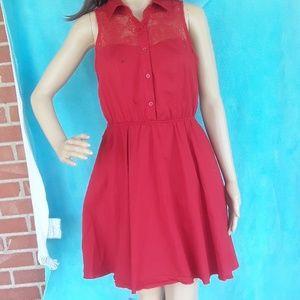 BaileyBlue lace  upper bodice dress., sz M